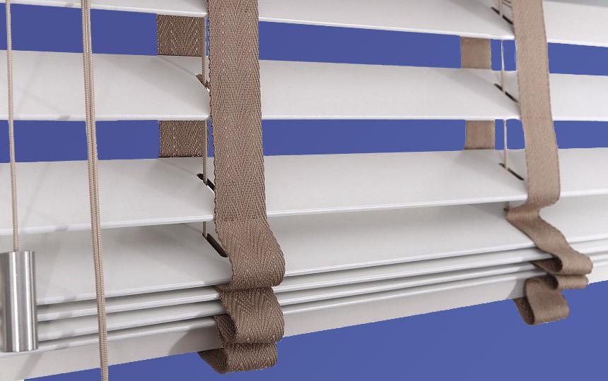 Ladderband houten jaloezieën